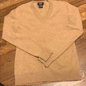 Lord&Taylor camel colored v-neck cashmere sweater